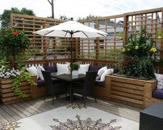 Love this with all the added built-ins! Small Deck Design, Pictures, Remodel, Decor and Ideas - page 5