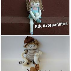 DIY muñeca y muñeco piernas largas