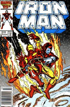 Iron Man #216 marvel comics cover  Marvel Comics Modern Age Comic book covers Super Heroes  Villians