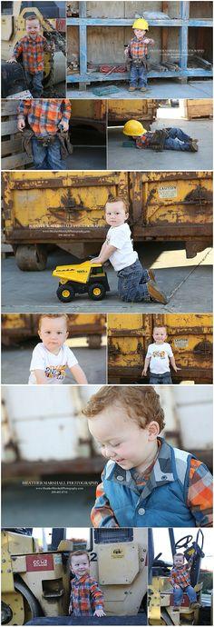 Construction Theme Birthday Party | Construction Birthday Photo shoot | Heather Marshall Photography | Boy's construction party
