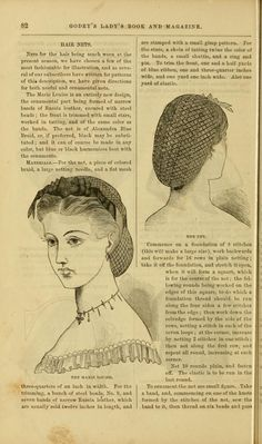 1864, Godey's. Hair nets and instructions therefor. [jrb]