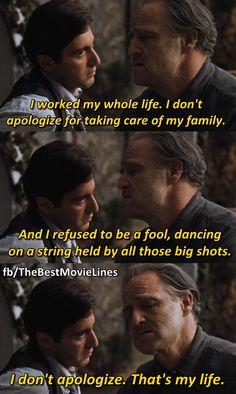 - Al Pacino and Marlon Brando in The Godfather (1972)