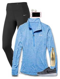"""""""perfect {preppy} workout"""" by preppy-ginger-girl on Polyvore featuring NIKE, Under Armour, Lilly Pulitzer, Honora, S'well, women's clothing, women's fashion, women, female and woman"""