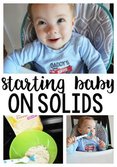 Starting Baby on Solid Foods - how we got started on advancing to the good stuff! #ad #GerberCEREALS