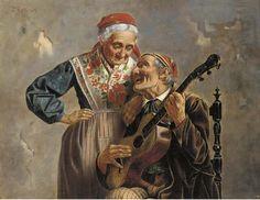 Zermati, Jules (ativa 1880-1920) - Serenata de um ente querido