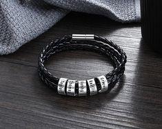 Woven & Braided Bracelets   Etsy Braided Bracelets, Bracelets For Men, Gifts For Father, Gifts For Him, Mens Bracelet Fashion, Black Leather Bracelet, Sterling Silver Bracelets, Valentine Day Gifts, Brown Leather