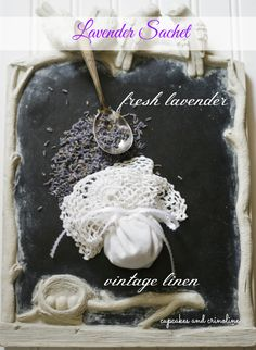 Fresh Lavender Sachet Made From a Vintage Doily