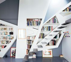 1000 images about faites place on pinterest deco ranger and cuisine - Bibliotheque salon design ...