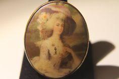 Marie Antoinette Portrait Cameo Brooch