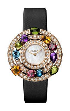 Bvlgari Astrale series rose gold jewelry watch By Nayia Ginn Bvlgari Watches, Timex Watches, Luxury Watches, Analog Watches, Amazing Watches, Beautiful Watches, Audemars Piguet, Bulgari Jewelry, Jewellery