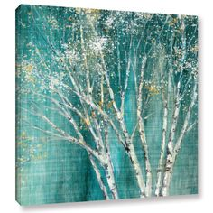 Found it at Wayfair - Blue Birch Painting Print on Wrapped Canvas