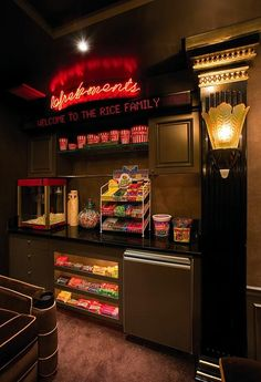 Concession stand to go with your home theater. // We need one of these if we ever make that theater room happen lol @Alycia Brown