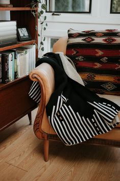 The Reika Throw blanket is inspired by Hallgrímskirkja, Reykjavík's main landmark. It's designed in Portland, Oregon and made from recycled cotton at an American mill. Inspired By Iceland, Couch Throws, Black Sand, Weighted Blanket, Cream And Gold, Dark Colors, Linens, Wander, Beaches