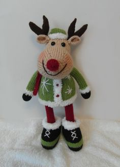 Rowan Reindeer doll with elf coat knitting project by Phoenixknits