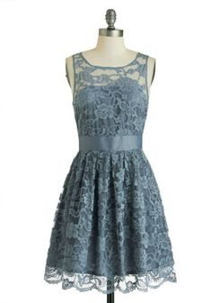 When the Night Comes Dress in Smoke, #ModCloth  Is this too blu-ish?