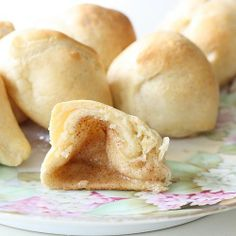 Marshmallows dipped in melted butter, then cinnamon sugar, wrapped in crescent rolls and baked. Theyre called Hocus Pocus buns because the marshmallows disappear! YUM is understatement!.