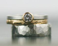 Venda de boda anillo de bodas único 14K oro anillo por lolide