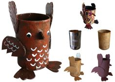 Art Projects for Kids: Soup Can Paper Mache Owl