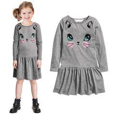 $16.00 (Buy here: https://alitems.com/g/1e8d114494ebda23ff8b16525dc3e8/?i=5&ulp=https%3A%2F%2Fwww.aliexpress.com%2Fitem%2FGirls-2016-autumn-new-children-s-cartoon-cat-girls-dress-Girls-princess-dress-children-s-clothing%2F32714450041.html ) Girls 2016 autumn new children's cartoon cat girls dress Girls princess dress children's clothing Zhongshan University for just $16.00
