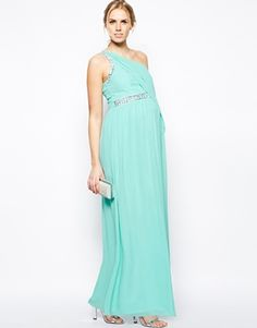 Turquoise Dess Like Maternity Gown Great For Expecting Bridesmaids And Wedding Guests