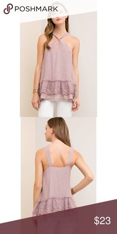 Boho Dusty Pink Ruffle Tunic Top S M L Dusty pink ruffle tunic top, keyhole opening, 65% Rayon 35% Polyester.  Available in size small, medium, or large. ARRIVING THURSDAY/SHIPPING FRIDAY!  No Trades, Price Firm unless Bundled.  BUNDLE 3 OR MORE ITEMS FOR 15 % OFF. Boutique Tops Tunics