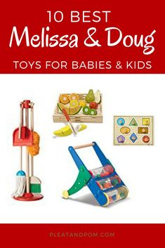 If there ever was a set of kids toys my own kids loved it was almost always Melissa & Doug. They are the most functional educational and eco-friendly toys on the market and my kids just gra Toddler Toys, Preschool Activities, Baby Toys, Kids Toys, Toddler Learning, Toddler Classroom, Montessori Toddler, Gentle Parenting, Parenting Hacks