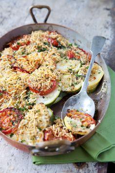 Tomato, Squash and Zucchini Gratin