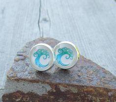 Magic the Gathering post earrings gift ideas Simic by MontanaMagic