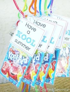 Have a Kool Summer Tags for End of School Year Classmate gifts