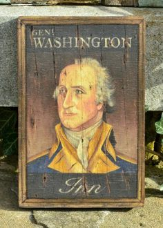 Young George Washington, Original Paintings, Original Artwork, Pub Signs, Trunks And Chests, Early American, Hand Painted, Folk Art