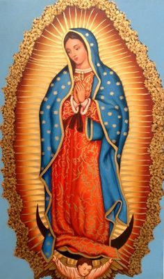 Óleo sobre lienzo 75 x 51 cm Virgen de Guadalupe Blessed Mother Mary, Blessed Virgin Mary, Religious Images, Religious Art, Lady Guadalupe, Pictures Of Jesus Christ, Images Of Mary, Catholic Religion, Holy Mary