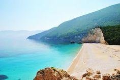 GREECE CHANNEL | Fteri Beach Btween Zola Village and Atheras Village #Kefalonia #Greece http://www.greece-channel.com/