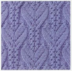 Lace Knitting Stitch #34 | Lace Knitting Stitches leaf cable spets