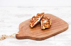 GENOA SALAMI & FONTINA CHEESE Genoa Salami, Savory Waffles, Fontina Cheese, Butcher Block Cutting Board