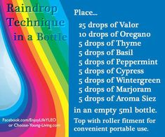 Young Living Essential Oils: Raindrop Technique in a Bottle