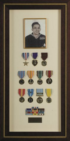 For those who were in the armed forces, framing old medals is a great keepsake to have!