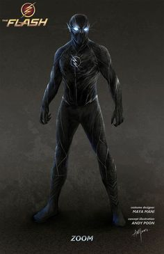 "Concept art of the villainous Zoom from the CW's ""The Flash"" (2015) by Andy Poon."