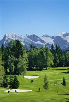 Golfclub Wildmoos in Seefeld in Tirol, Austria, 1400 m high, one of the most beautiful Golf courses.