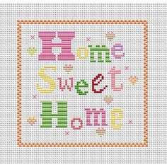 cross stitch patterns free printable | Home Sweet Home FREE CHART DOWNLOAD