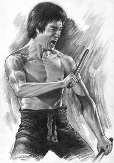Wow! Awesome Drawing On My Idol Rear Amazing Art Work. Came Out Really Very Good. Who\'s the Artists? Bruce Lee- Pencil