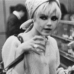 "Andy Warhol ""Superstar"" Edie Sedgwick c. 1966 #EdieSedgwick #PunkBeforePunk"
