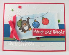 'Tis the Season & Your next Stamp! | Hollybeary Creations | Watercolor: DISTRESS MARKERS + PERFECT PEARLS