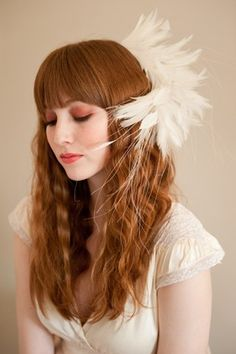 Perfect Plume Bridal Fascinator by Emiliner on Etsy