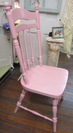 Shabby Chic Pink Hand Painted Chair Bohemian by rosesnmygarden