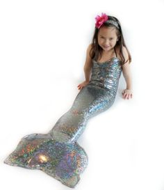 Mermaid Tail Costume One Piece By Applejack Apparel Large 810 Silver ** Find out more about the great product at the image link.