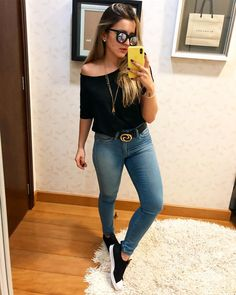 catchy summer outfits to wear now page 18 Sneakers Fashion Outfits, Mode Outfits, Sport Outfits, Summer Outfits, Casual Outfits, Casual Jeans, Sport Fashion, Look Fashion, Cheap Fashion
