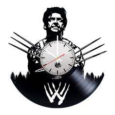 Wolverine 3 Hugh Jackman Handmade Vinyl Record Wall Clock Fan Gift - VINYL CLOCKS