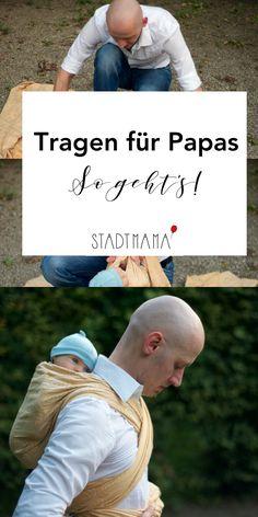 Auch Papas können das Baby Tragen! Frageberater Gunter ist spezialisiert auf Tragen für Männer und erzählt wie es am besten funktioniert nd warum auch Papas mehr tragen sollten.