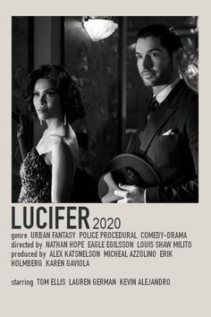Lucifer Minimalist Polaroid TV Poster