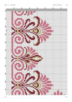Discover thousands of images about Yogurtcu Cross Stitch Borders, Crochet Borders, Cross Stitch Flowers, Cross Stitch Designs, Cross Stitching, Cross Stitch Embroidery, Embroidery Patterns, Hand Embroidery, Cross Stitch Patterns